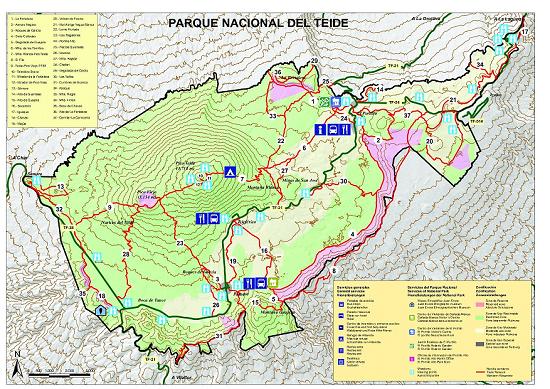 Plano-general-Parque-Nacional-del-Teide