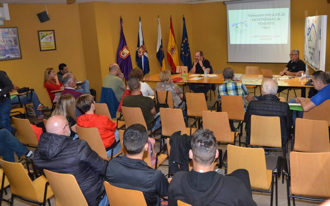Reunión de Clubes en la Federación Insular de Montañismo Tenerife