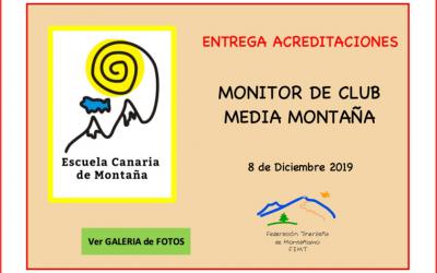 Entrega de acreditaciones – Monitor de Club Media Montaña