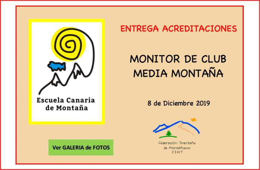 Entrega de acreditaciones – Monitor de Club Media Montaña