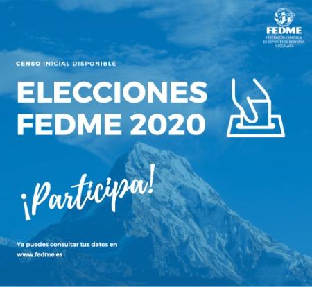 Elecciones FEDME 2020