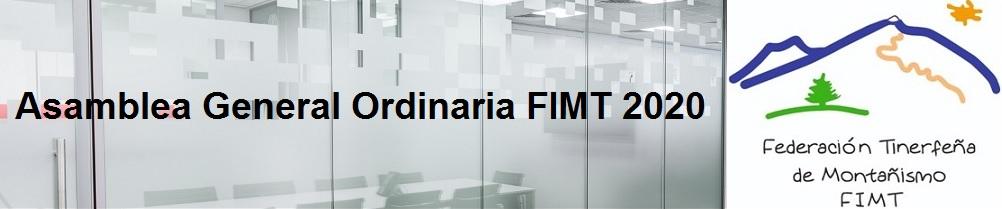 Asamblea General Ordinaria FIMT 2020