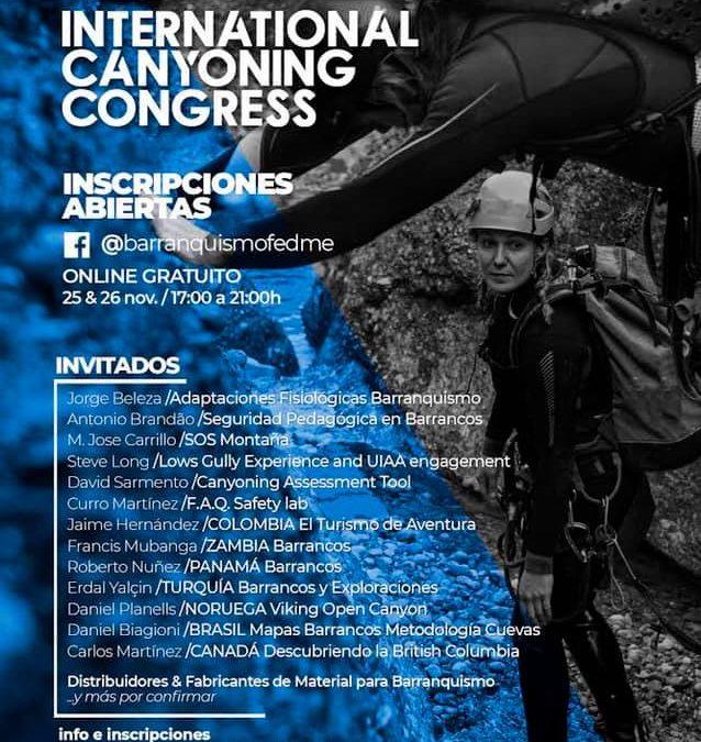 INTERNATIONAL CANYONING CONGRESS