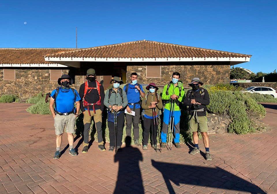 Actividad Grupo Montañero Tenerife – Actividad en el PNT y día de Canarias