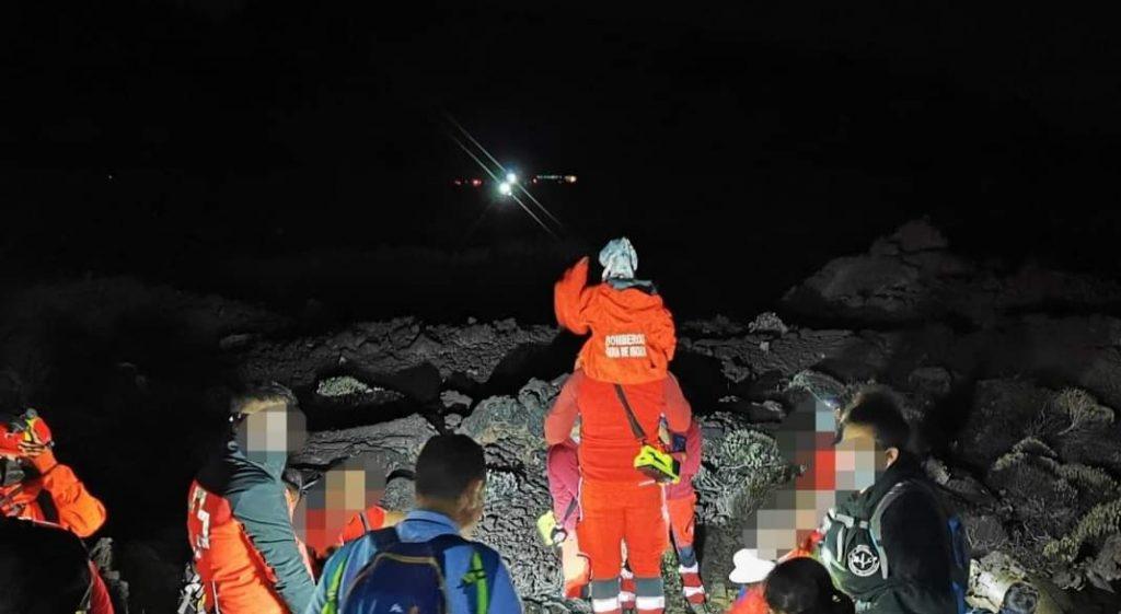 Rescate especial en el Parque Nacional del Teide