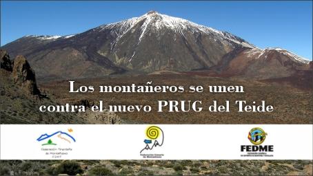 Los montañeros se unen contra el nuevo PRUG del Teide